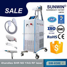 new generation laser ipl hair removal machine/4in1 multifunction beuaty equipment / laser hair removal machine