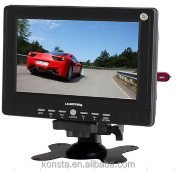 7 Inch Car TFT LCD TV Monitor Portable With USB