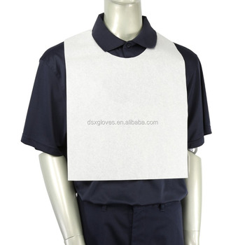 Disposable Bib Restaurant, Disposable Adult Bibs. Non-woven disposable bib aprons, Waterproof disposable aprons