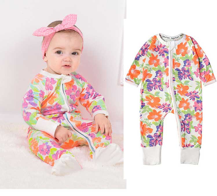 baby poemZ10 high quality soft comfortable long sleeve cotton two way zipper baby romper