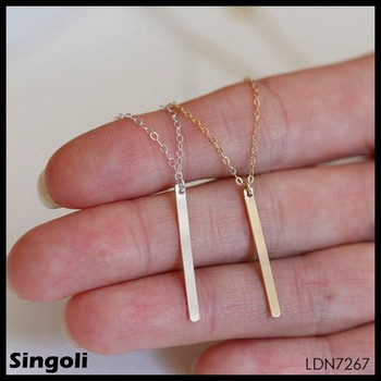 Tiny gold chain long pendant necklace for girls buy gold chain tiny gold chain long pendant necklace for girls aloadofball Images