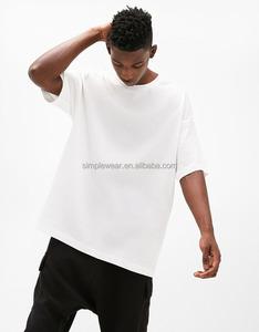 Custom printed mens oversized drop shoulder t shirt