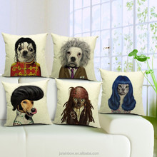 whosale different color of very cute lovely comic dog cat star animal head cushion covers/car seat cushion covers