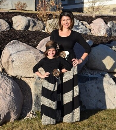 mommy and me maxi dress grey and black stripes women maxi dress