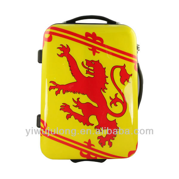 Fashion Royal Red Dragon Ethnic Symble ABS PC Polo Trolley Luggage / Suitcase