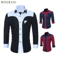 TONGYANG Wholesale Fahion Men's Shirts New Arrival Male Casual Long Sleeve Shirt