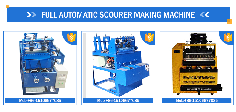 8wire 4ball cleaning scourer making machine from linyi factory
