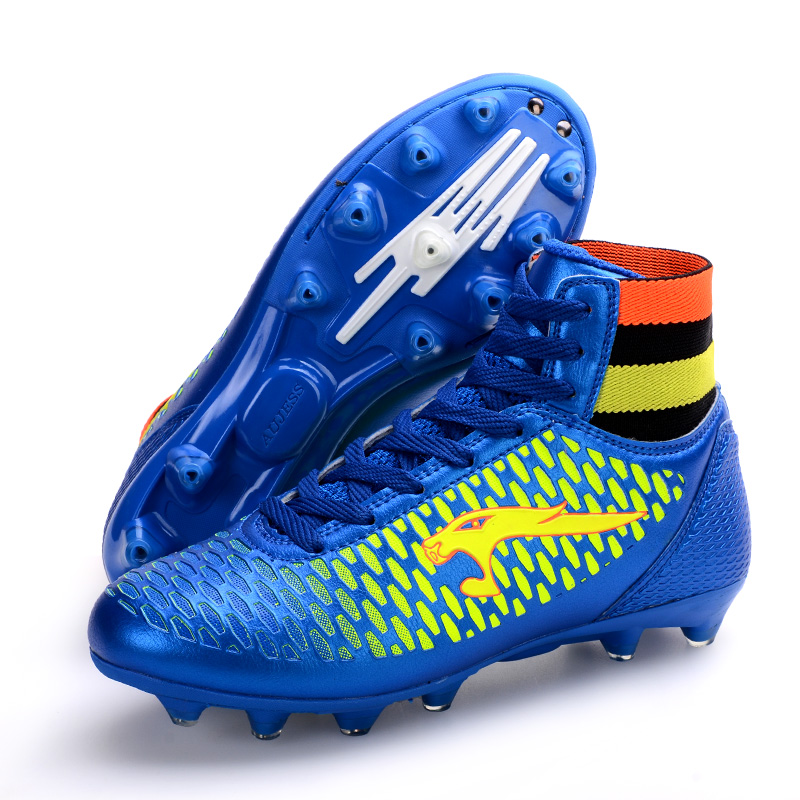 276078c81a21 High Top Soccer Cleats Men Shoes Leather Soccer Boys Football Boots High  Ankle Cheap 2016 Men High Ankle Original Football Boot