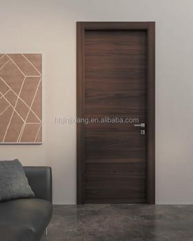 Simple Design Solid Wooden Flush Door With Engineered Wood Veneer