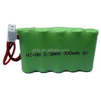 NiMH 2/3AAA 300mAh 6V Battery Pack Manufacturer with CE,ROHS,UL certificates