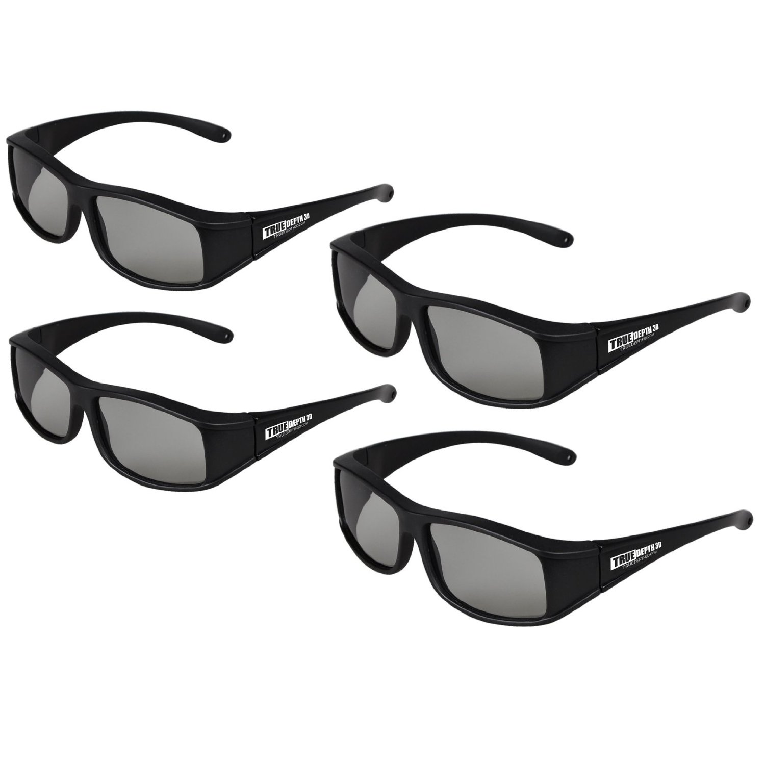 True Depth 3D® circular Polarized glasses for Passive LG 3D TVs (4 pairs!)