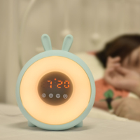 Baby big led display desk sunrise simulation wake up light alarm clock