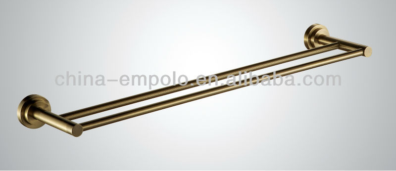 Bronze Hot Sale Empolo 60cm Double Stainless Steel Towel Bar, Towel Rail, Hanging Rod From Kaiping 726 08