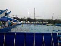 large Inflatable Swimming Pool With Cover/ tent, Inflatable Water Pool With Platform