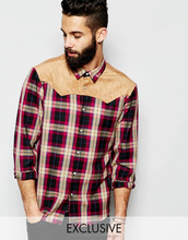 <span class=keywords><strong>Herren</strong></span> wildleder patch flanell button up <span class=keywords><strong>langarm</strong></span>-shirt/Mens customized Rote Check casual fashion-hemd