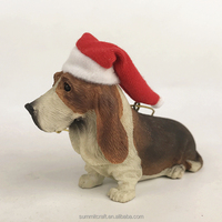 Custom 3D BASSET HOUND DOG resin figure ornament