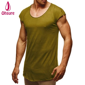 one piece sports shirts gym one color custom hemp cotton printed t shirt
