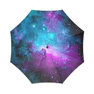 Space Nebula Universe Custom Novelty Auto Foldable Sun Rain Anti-UV Umbrella