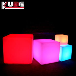 Remote control 16 color changing battery mini cube led light