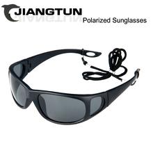 JIANGTUN Side Design Fishing Polarized Sunglasses Polaroid Sport Glasses Brand Designer Driving Anti-UV Oculos De Sol Masculino