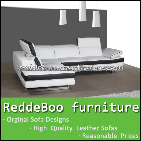 moderna sala de estar sofs blancos y negros en shen zhen fabricante de muebles - Sofas Negros