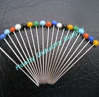 "Wholesale 1-1/4"" Sewing Multicolor Straight Glass Head Pin"