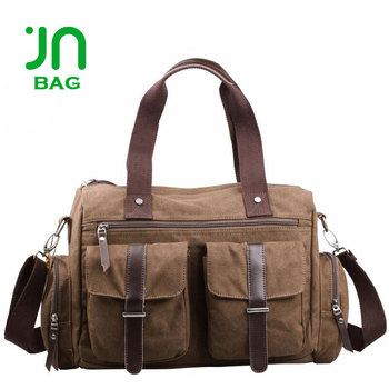 2ead914cfb91 Jianuo Canvas Leather Duffle Bag Classic Men Travel Bags - Buy ...