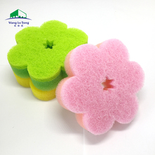 High quality magic dish sponge for kitchen cleaning nylon non-scratch scourer