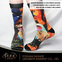 funky men skull graffiti socks dye sublimation socks custom mid calf printing socks