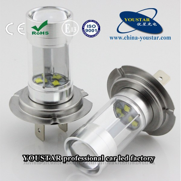 Good quality 30w car led lamp with reflector for headlight fog light bulb in H7 base