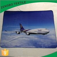 Thailand Airlines 100% polyester solid warm polar fleece blanket