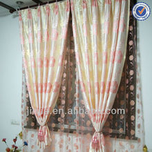 Curtain Manufacturer Latest design American Style Colorful ready made sheer curtains