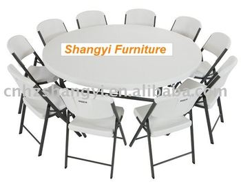 72 in round plastic folding banquet table buy 72 in round folding