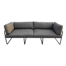 Modern sofa garden furniture aluminium 3 seater sofa