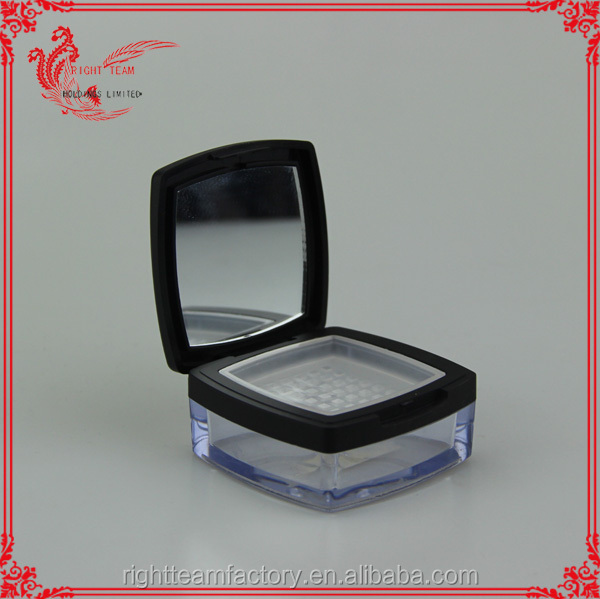 new design powder sifter jar empty cosmetic jars square with mirror