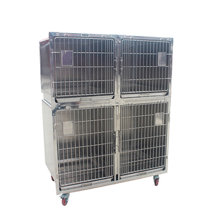 Veterinary Stainless Steel Dog Kennel Cages, Vet Equipment Animal Cages For Sale