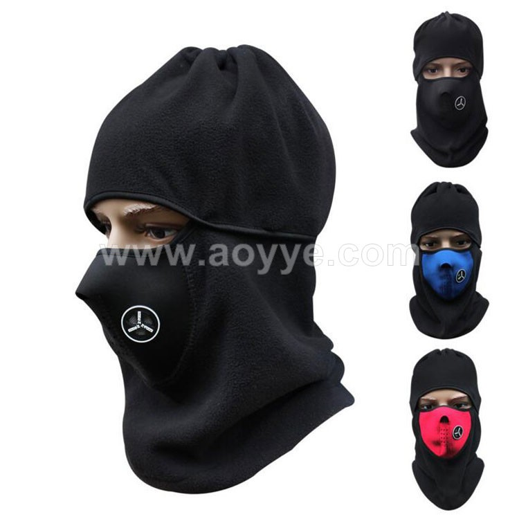 Wholesale windproof warm cycling winter multi color hats full face mask caps