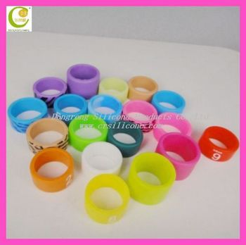 Attractive Silicone Fashion Finger Rubber Rings/ Silicone Finger ...