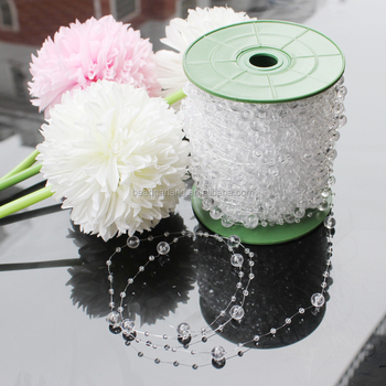 60M/197Ft Wedding Acrylic Crystal Bead Plastic Garland Rope Wedding Party Decoration