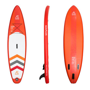 "Fissot 10'6 long 6"" thick inflatable SUP stand up paddle board for touring"