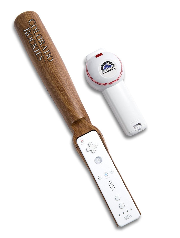 MLB Colorado Rockies Wii Baseball and Bat Controller