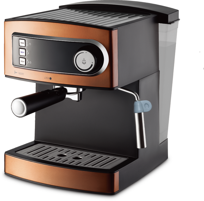 Copper color 1.6L 15 bar ULKA Italy pump detachable water tank cappuccino and espresso coffee maker