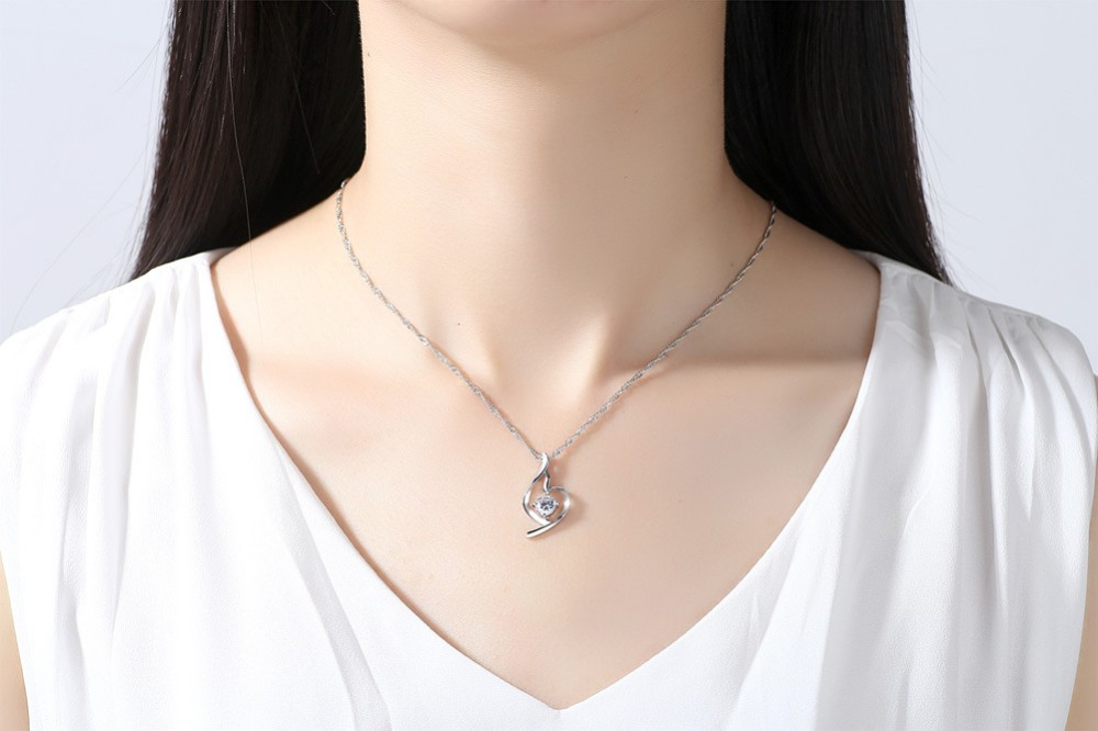 wholesale jewelry necklace simple necklace zircon soft angel lucky necklace