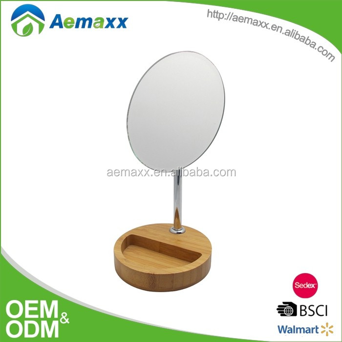 Round Vanity tabletop comestic mirror,Hotel bathroom make up ,Table Standing Makeup Mirror