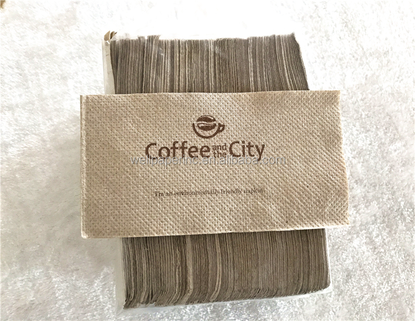 100% Recycled Unbleached Paper Napkins,Natural Lunch Napkin 1-ply 500 count,Unbleached Recycled Brown Color Napkins