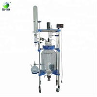 150L TOPTION chemical double layer jacketed laboratory glass reactor