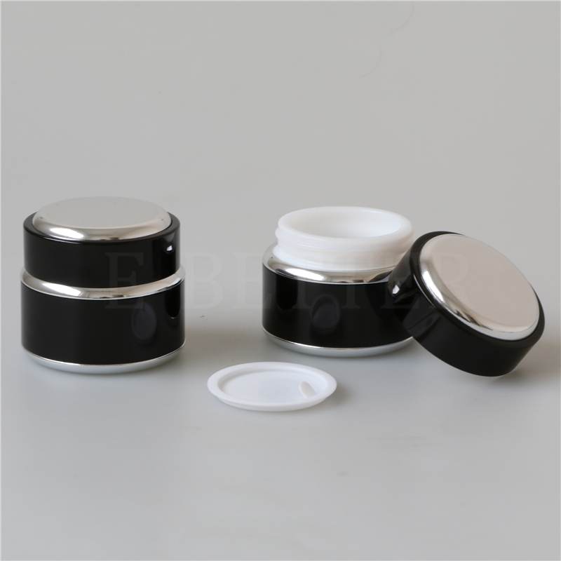 green glass cosmetic packaging jar 50 g for cream