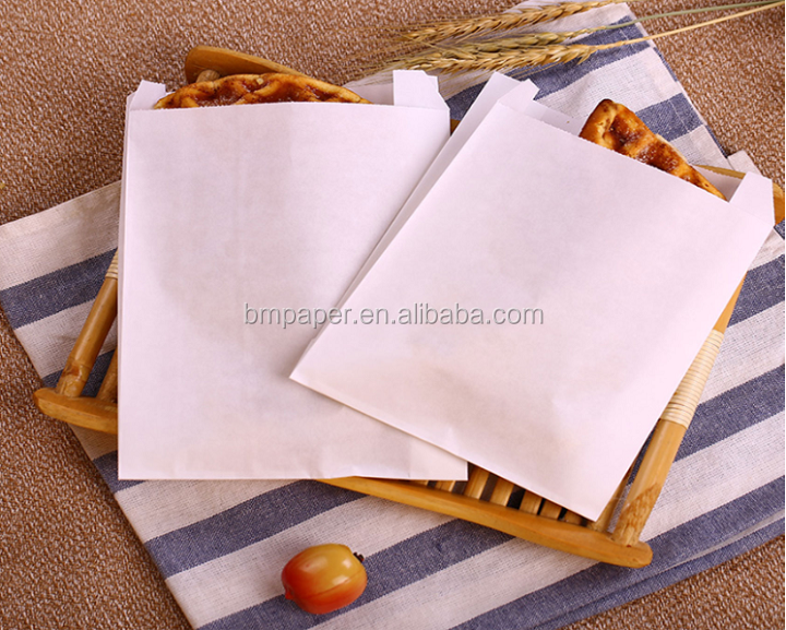 40GSM TO 135GSM Food Grade White Kraft Paper Roll For Making Paperbags