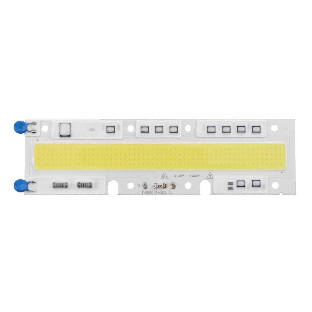 Awakingdemi High Power 100W AC110V COB LED Lamp Chip for Spotlight Searchlight(White)