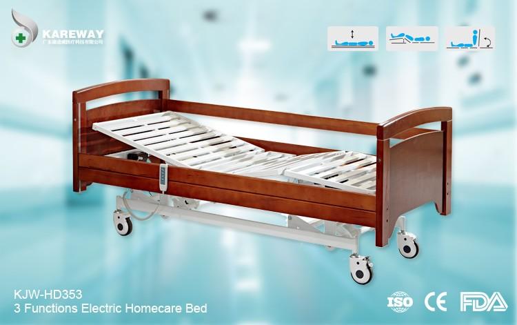 China Supplier Wooden Electric Medical Care Bed For Bedridden ...